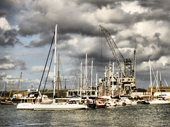 Falmouth Harbour, Cornwall (photphobia) Tags: uk haven water boats cornwall falmouth dockyard falmouthharbour riverfal