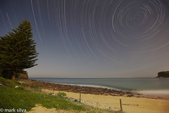 and sometimes you feel so deserted (mark silva) Tags: sydney australia fullmoon nsw startrails avalonbeach