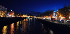 Liffey by Night (hannah_bergmann) Tags: ocean travel bridge ireland boy sky people dublin reflection water girl beautiful beauty night river skyscape landscape reisen nikon irland cliffs atlantic liffey human traveling cliffsofmoher fluss landschaft moher waterscape klippen nikond60 enniston