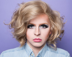 Self V (UnknownChese) Tags: portrait woman selfportrait man beauty hair drag makeup wig blonde androgyny androgynous