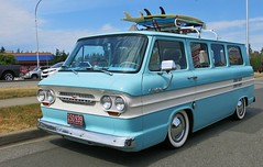 1962 Chevrolet Corvair Greenbrier Sports Wagon (Custom_Cab) Tags: 1962 chevrolet corvair greenbrier sports wagon 95 van window chevy surf board surfboard