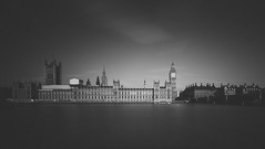 Palace Of Westminster | Monochrome (James_Beard) Tags: longexposure bw blackwhite housesofparliament bigben wideangle palaceofwestminster elizabethtower canon24105 canon6d