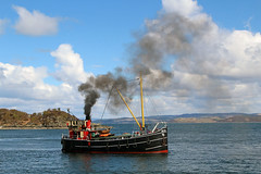 Leaving Tarbert (chessieboater) Tags: scotland puffer vic32