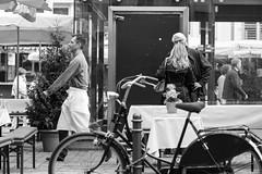 Heumarkt, Cologne (margaretsdad) Tags: street city uk people blackandwhite bw white black public river germany scott scotland blackwhite edinburgh cologne bicycles rhine koln barron midlothian heumarkt d7100 scottbarron
