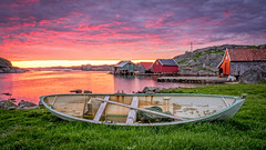 Fire in the sky (Richard Larssen) Tags: sunset sea sky nature norway zeiss fire evening boat norge sony norwegen visit richard scandinavia rogaland a7ii egersund visitnorway sonyalpha eigersund dalane larssen eigery eigeroy teamsony emount richardlarssen sel1635z