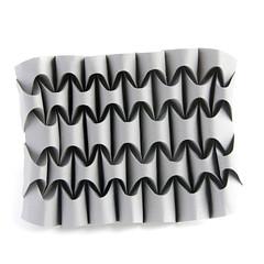 Curved #origami #corrugation (_Ekaterina) Tags: paper grey origami curved tessellation paperfolding corrugation tant ekaterinalukasheva