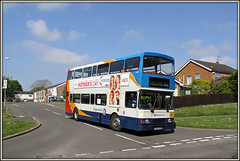 16698, Burns Road (Jason 87030) Tags: road camera england volvo day estate shot northamptonshire may picture mothers fave views headlands vehicle publictransport amateur milf northants stagecoach doubledecker oly 2016 daventry 16698 burnsroad ashbyroad 20916 r698dnh