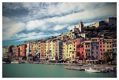 The Skyline Of Porto Venere (kurtwolf303) Tags: ocean city italien sea sky italy topf25 water architecture clouds buildings boats topf50 topf75 colorful meer wasser europe italia 500v20f liguria eu himmel wolken boote architektur topf150 portovenere topf100 gebude topf200 bunt 800views huser travelphotography ligurien reisefotografie 1500v60f 1000v40f 250v10f unlimitedphotos canoneos600d kurtwolf303