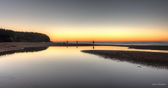 Some like it early (JustAddVignette) Tags: ocean sea sky seascape beach water sunrise reflections dawn landscapes early sand sydney peaceful australia lagoon newsouthwales firstlight northernbeaches seawater beforedawn turimetta