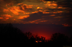 Sunset fires dancing in the sky (Captions by Nica... (Fieger Photography)) Tags: light sunset sky cloud sun canada silhouette clouds spring quebec outdoor dusk silhouettes sunsets nightsky