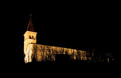 Alone in the dark (JPetrovi) Tags: light black church night background