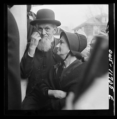 A Mennonite and his wife at a public sale, Lititz, Lancaster County, Pennsylvania, November, 1942 by Marjory Collins. [4835x4941] #HistoryPorn #history #retro http://ift.tt/20hCJHb (Histolines) Tags: county november history public by sale pennsylvania retro marjory lancaster his wife timeline 1942 collins mennonite lititz vinatage a historyporn histolines 4835x4941 httpifttt20hcjhb