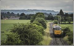 Ped-estrian Progress (Jim the Joker) Tags: train railway brush ped freight dcr type2 class31 branchline 31452 longmarston railvac devonandcornwallrailways