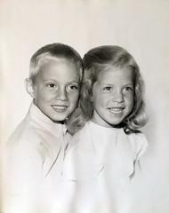 Me and Krista c1965 (sjrankin) Tags: family me children michigan edited detroit krista c1965 25may2016