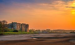Carew Castle River Sunset (Ukfalc) Tags: sunset castle pembrokeshire carewcastle carew 1635ii canon600d