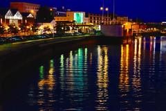 Bremerhaven by night (Wischhusenpixel) Tags: light reflection night architektur fluss spiegelung gebude bremerhaven fishtown lichter nachtaufnahme reflexionen nebenfluss geeste connywischhusen wischhusenpixel