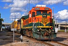 "Westbound Transfer in Kansas City, MO (""Righteous"" Grant G.) Tags: city railroad west train power railway trains missouri kansas locomotive transfer ge bnsf westbound atsf"