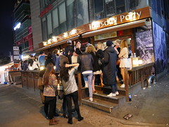 Hongdae is the perfect place to stay if you like nightlife, here at a Thursday party draft house!