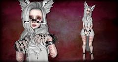You can keep trying to hurt me :D (N G H T M R) Tags: creepy sl secondlife gore horror kitsune