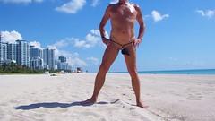 black baggie strap bh (bmicro2000) Tags: man male beach public thong tiny gstring bungee baggie minimalswimwear microkini microbeachwear