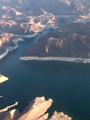 Hoover Dam and the receding water of Lake Mead (gsmithsirus) Tags: lasvegas nevada hooverdam lakemead coloradoriver desertsouthwest