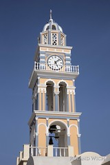 Thira (Rolandito.) Tags: tower church saint john cathedral santorini greece grecia baptist griechenland santorin fira thia