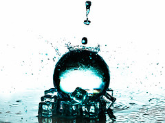 RIPPLES AND REFLECTIONS (Laith Stevens Photography) Tags: abstract color art ice water reflections fun drops cool bright awesome ngc clarity olympus ripples splash product crystalball omdem1 zuiko50200mmf2832swd