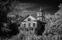Bishop House (Rodney Harvey) Tags: abandoned house infrared saybrook connecticut architecture tower spooky creepy eerie east coast new england