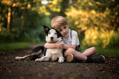Boys best friend (TraceyDobbs86) Tags: portrait dog art child bokeh fine