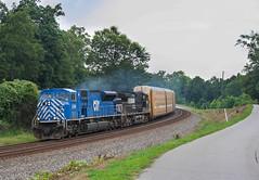 Blue 90Mac (weshendrix) Tags: norfolk southern piedmont division greenville district train railfan railroad freight intermodal diesel locomotive engine emd sd90mac citx leaser lease unit lula georgia ga
