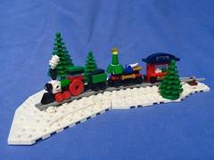 Micro Winter Holiday Train (theogiulia) Tags: microtrain lego creator moc winterholidaytrain