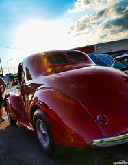 1938 Willys Coupe (Chad Horwedel) Tags: 1938willyscoupe willyscoupe willys classic car coupe red discounttire joliet illinois