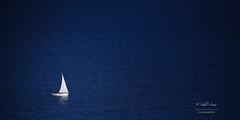 (246/16) El velero (Pablo Arias) Tags: pabloarias espaa spain hdr photomatix nx2 photoshop texturas mar agua azul minimalismo velero benidorm alicante comunidadvalenciana
