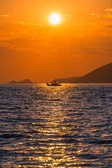 Sunset (Vagelis Pikoulas) Tags: sun sunset sea boat seascape canon 6d tamron 70200mm vc porto germeno greece europe view landscape 2016 august summer