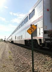 Amtrak's Zephyr at Mendota, IL - 35 MPH (Laurence's Pictures) Tags: burlington northern santa fe bnsf mendota train rail railroad railway locomotive engine