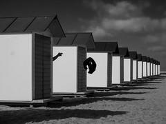 Beach Life (Georgie Pauwels) Tags: beach beachhouse line row olympus repetition geometry hand blackandwhite