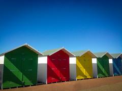 Beach Huts (ahuntley2) Tags: beachhut beachhuts travelphotography colourful eastbourne sussex travel seaside seasideholidays photography bluesky summer