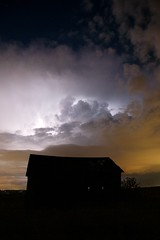 Lightning storm above the Knaus Barn (palmchat) Tags: barn lightning colorado boulder gunbarrel osmp openspace nightsky thunderstorm thunder christiannunes sky cloud