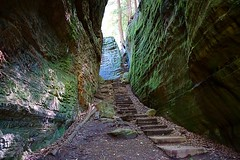 stairs (#KPbIM) Tags: 2016 bridge hiking hockinghills september trip nature rock vacation caves walls green stairs trail rocks