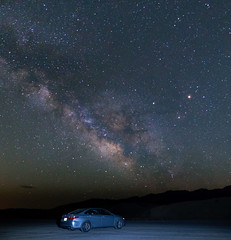 We are not alone !! (shalabh_sharma7) Tags: california usa deathvalleynationalpark nationalpark deathvalley milkyway night stars starrynight car longexposure sonya77ii tokina travel nightphotography darkskies nps100 toyota