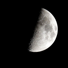 Half Moon (mkk707) Tags: astrophotography moon halfmoon telescope canoneos600d apochromatic refractor darmstadt germany sky nightshot