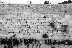 The West Wall - Jerusalem (Achille Abboud) Tags: old bw west wall war jerusalem religion holy arab western jew conflict