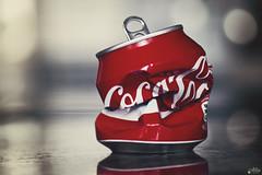 Recycle (Ali Llop) Tags: macro cola coke can 90mm coca lata macromondays crinkledwrinkledfoldedorcreased foldedorcreased