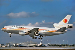 N69NA National DC-10-10  landing at KMIA (GeorgeM757) Tags: airplane flying airport aircraft aviation national panam mcdonnelldouglas dc1010 kmia miamiinternational alltypesoftransport n69na georgem757 dc1010tanker910