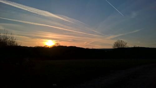 Sunset from Apperley Lane