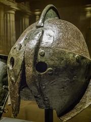 Iron Gladiator Helmet from Herculaneum Roman 1st century CE (mharrsch) Tags: seattle italy washington iron roman contest helmet games exhibit arena armor combat crested armour gladiator herculaneum pacificsciencecenter mharrsch pompeiitheexhibit