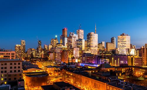 Blue hour, Toronto.