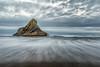 Panatahi Island at Karekare Beach (Geoff Billing) Tags: newzealand seascape beach island auckland karekare karekarebeach