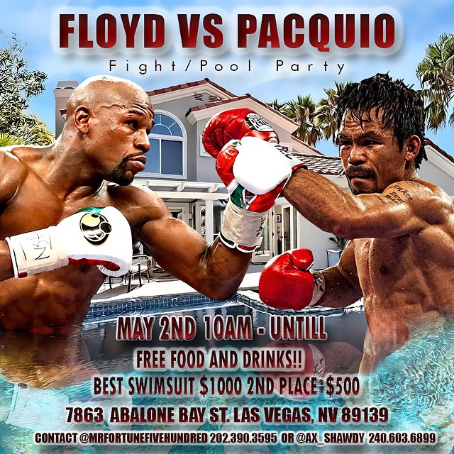 Flyer for 👉 @mrfortunefivehundred and @ax_shawdy May 2nd its going down #dmv 2 las vegas ✈️ contact them for more details. #Vegas #paquio #mayweather #poolparty #fight #boxing #miketyson #paperview #floydmayweather ##graphics #graph