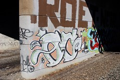 Oc (NJphotograffer) Tags: new railroad bridge graffiti nj rail jersey graff oc mhs trackside